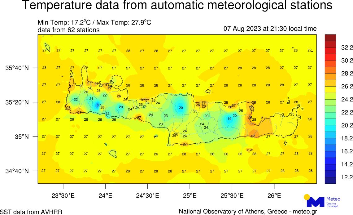 Μετεωρολογικό και Υδρολογικό Παρατηρητήριο Κρήτης - Μετεωρολογικός Σταθμός Δοξαρό